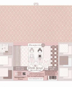"Paper pad 12""x12""cm 6 sheets - Pink Soul SBBKL603"