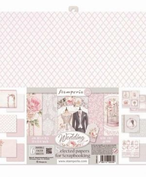 "Paper pad 12""x12""cm 6 sheets - Wedding SBBKL602"