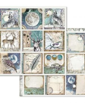 "Double face scrap paper 12""x12"" - Cosmos cards SBB613"