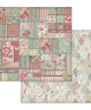 "Double face scrap paper 12""x12"" - Wallpaper with patchwork SBB649"