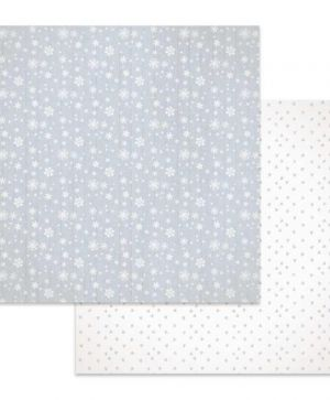 "Double face scrap paper 12""x12"" - Texture snow flakes SBB619"