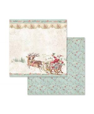 "Paper pad 8""x8""cm - Pink Christmas SBBS03"