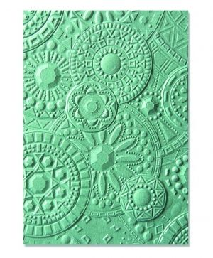 3-D Textured Impressions Embossing Folder - Mosaic Gems 663206