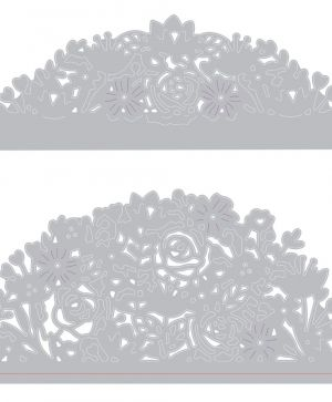 Sizzix Thinlits Die Set 2PK - Floral Edges 663373