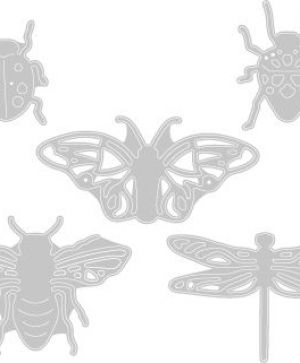 Sizzix Thinlits Die Set 5PK - Insects 663423