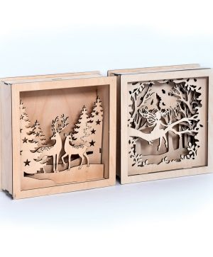 3D wooden frame - Forest scenery IDEA1793