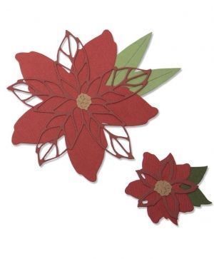 Sizzix Thinlits Die Set 8PK - Poinsettia 663464