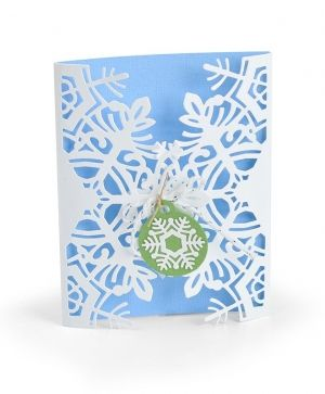 Sizzix Thinlits Die Set 4PK - Card Wrap, Snowflake 663606