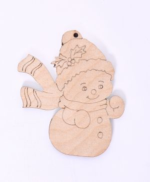 Wooden Christmas figurine - Snowman IDEA1799