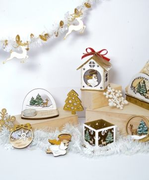 Wooden Christmas napkin holder - Snowman IDEA1798