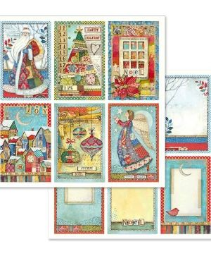 "Double face scrap paper 12""x12"" - Christmas cards SBB636"