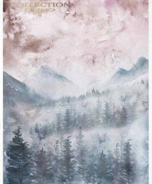 Decoupage Rice Paper A4 - Mountain views ITD-R1524