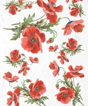 Decoupage Rice Paper A4 -  Poppies ITD-R957