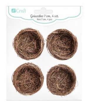 Mini decorative nests, 4pcs, 7cm - DPWL-012