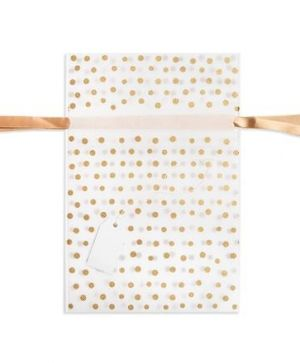 Gift bag 20x30cm - Gold dots DPTO-021