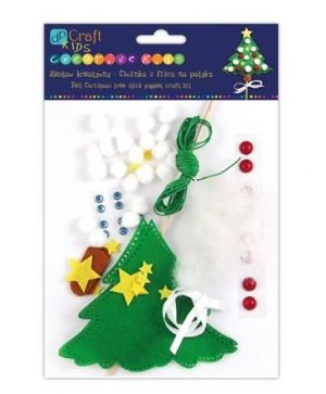 Felt craft kit - Christmas tree stick puppet KSFI-021