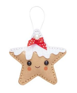 Felt craft kit - Gingerbread star hanger KSFI-265