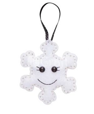 Felt craft kit - Snowflake hanger KSFI-266