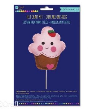 Felt craft kit - Cupcake KSFI-274