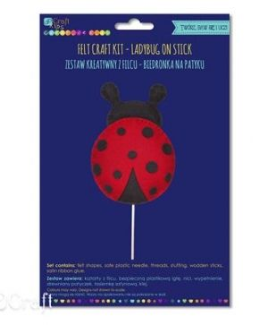 Felt craft kit - Ladybug on stick KSFI-275