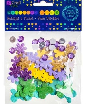 3D foam stickers 75pcs - Flowers & butterflies KSPI-071