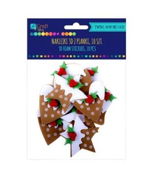 3D foam stickers 10pcs - Gingerbreads with icing KSPI-390