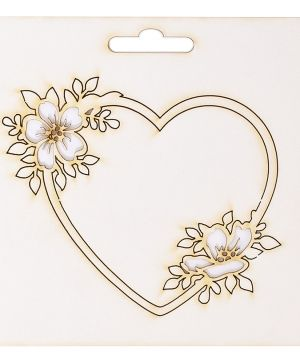 Chipboard element - Frame heart IDEA1801