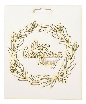 Chipboard element - Our wedding day IDEA1806