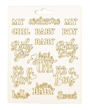 Chipboard element - Baby titles IDEA1814