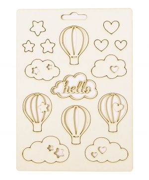 Chipboard element - Hello baby IDEA1815