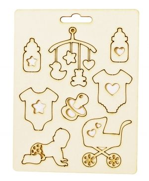 Chipboard element - Baby accessories IDEA1812