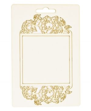 Chipboard element - Label with flowers IDEA1816