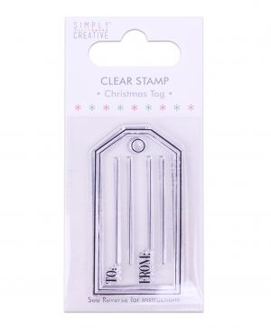 Clear stamp - Christmas Tag SCSTP007X19