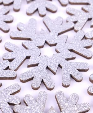 Simply Creative Set of embellishments 8 pcs - Snowflakes  SCTOP053X19