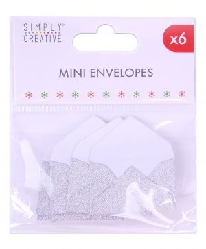 Simply Creative Mini Envelopes (6pcs) - silver SCTOP046X19