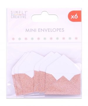 Simply Creative Mini Envelopes (6pcs) - Rose Gold  SCTOP047X19