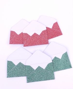 Simply Creative Mini Envelopes (6pcs) - Red & Green SCTOP048X19