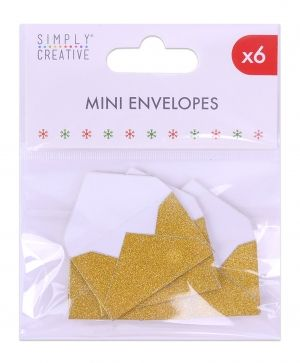 Simply Creative Mini Envelopes (6pcs) - Gold SCTOP045X19