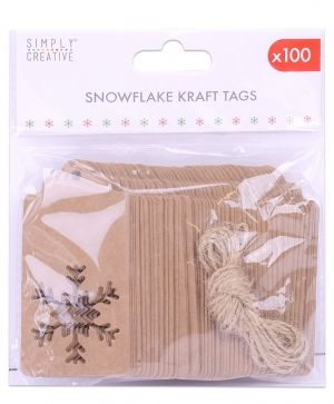 Simply Creative Basics Die Cut Kraft Tag - 100 pcs SCTOP072X19