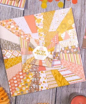 Paper Addicts 12x12 Paper Pad - Retro Daze PAPAD040