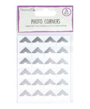 Photo Corners 24pcs - silver DCBS240