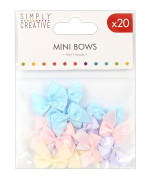 Simply Creative Mini Bows 16 pcs - Pastels SCRBN002
