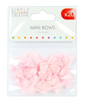 Simply Creative Mini Bows 16 pcs - Pink SCRBN003