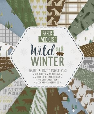 Paper Addicts 10x10cm Paper Pad - Wild Winter PAPAD063X19