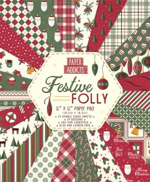 Paper Addicts 12x12 Paper Pad - Festive Folly PAPAD064X19