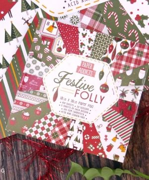 Paper Addicts 10x10cm Paper Pad - Festive Folly PAPAD066X19
