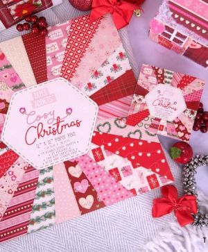 Paper Addicts 10x10cm Paper Pad - Cosy Christmas PAPAD060X19