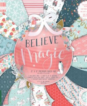 "First edition 8""x8"" Paper Pad - Believe In Magic FEPAD216X19"