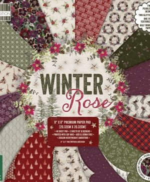 "First edition 8""x8"" Paper Pad - Winter Rose FEPAD219X19"