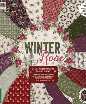 First edition 12x12 Paper Pad - Winter Rose FEPAD218X19